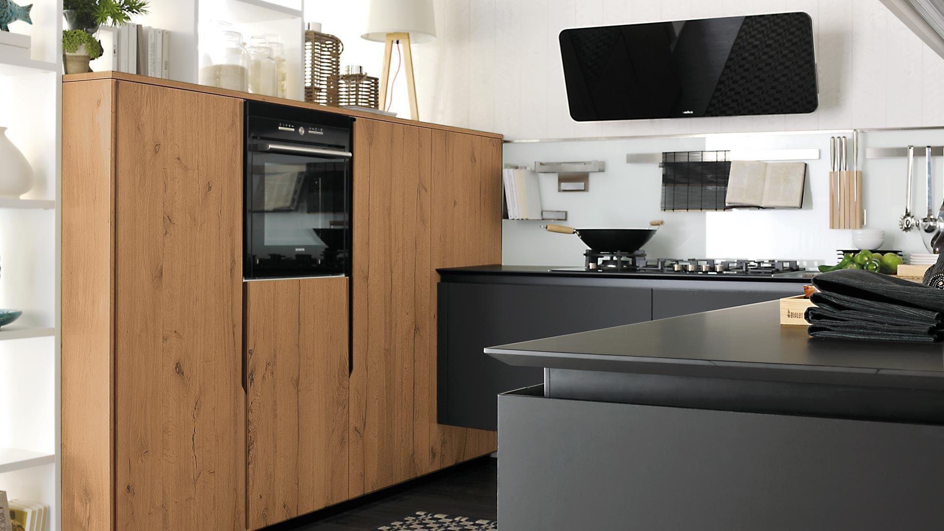 Cucina moderna / in legno / opaca / laccata - OLTRE - CUCINE LUBE