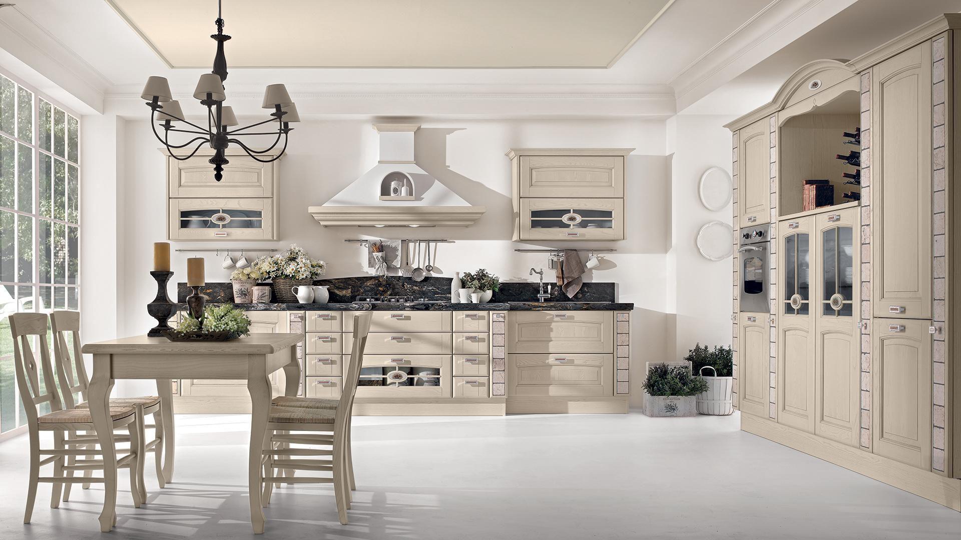 Cucina classica / in legno / con impugnature - VERONICA - CUCINE LUBE