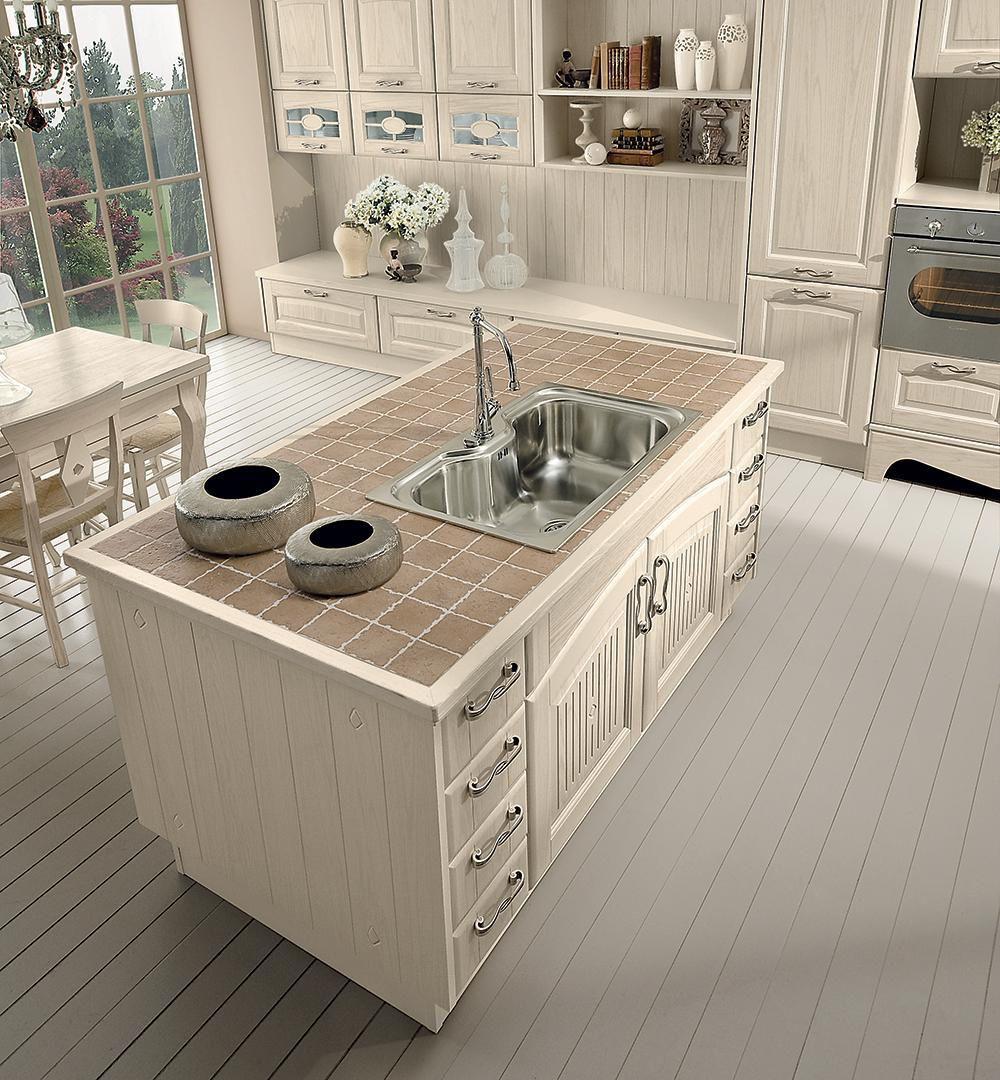 cucina classica / in legno / con isola - veronica - cucine lube - Cucina Classica Con Isola