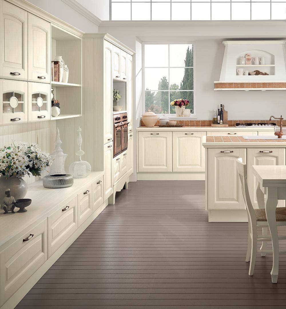 Cucina classica / in legno / con isola - VERONICA - CUCINE LUBE