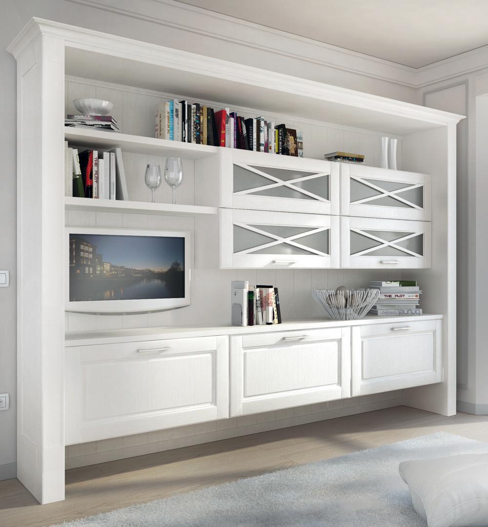 Libreria a muro / classica / in legno - AGNESE - CUCINE LUBE