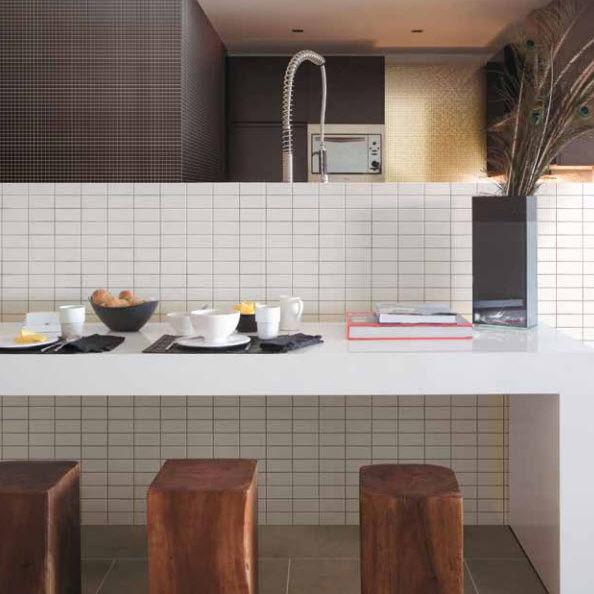 Mosaico da interno / da cucina / da parete / in ceramica - METALLICA ...