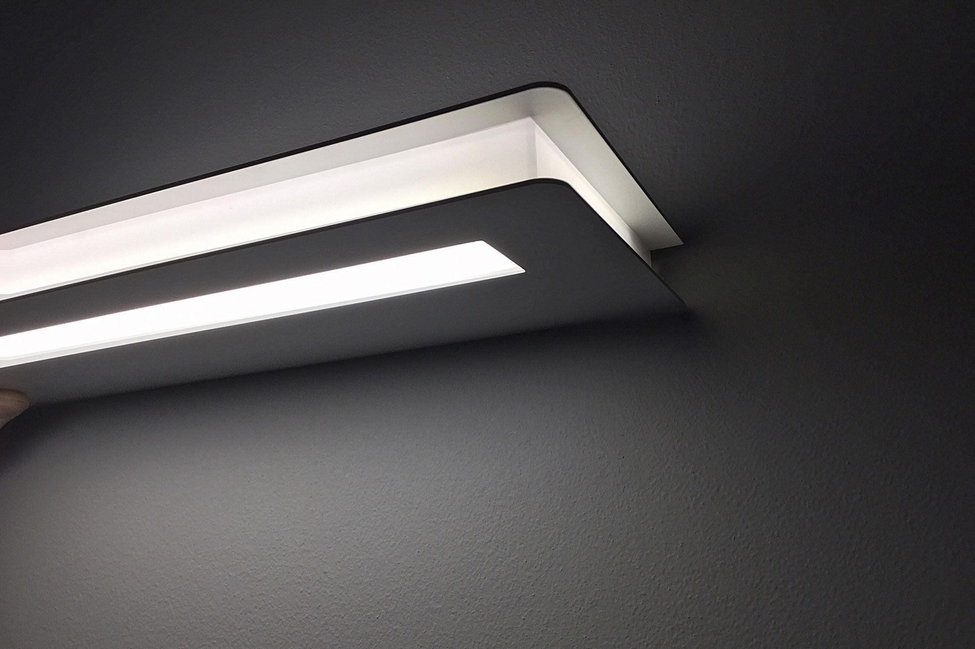Applique moderna in metallo in policarbonato led flat