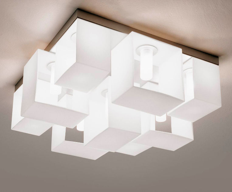 Plafoniere Da Soffitto In Vetro : Meraviglioso plafoniere leucos loop line plafoniera da soffitto
