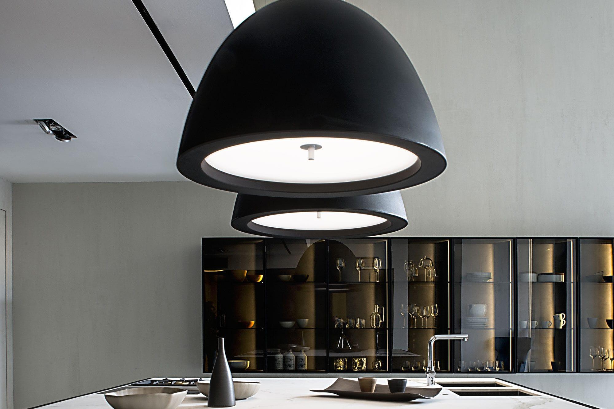 Lampade In Vetro A Sospensione : Lampada a sospensione moderna in alluminio in vetro soffiato
