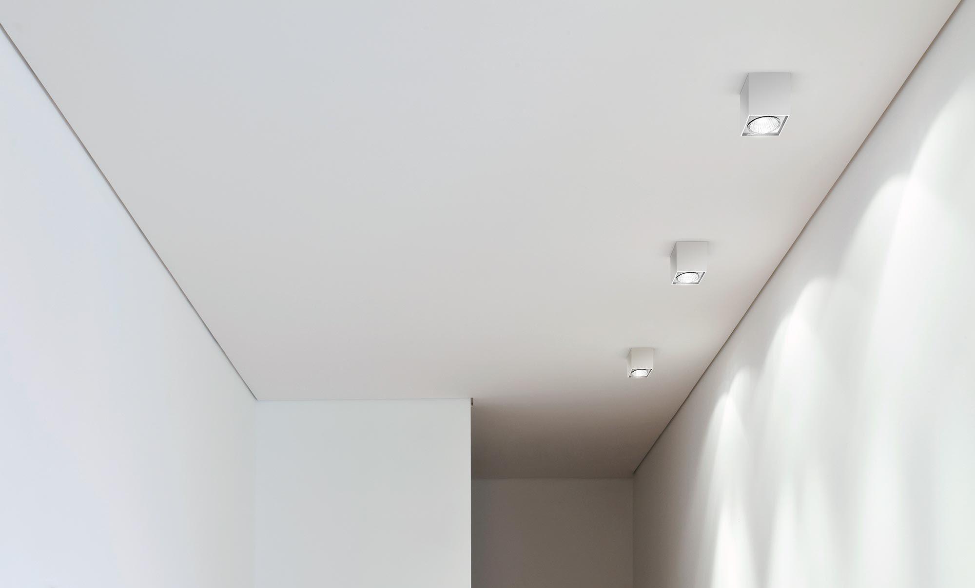 Plafoniera Quadrata Da Esterno Led : Plafoniera moderna quadrata in alluminio led two panzeri
