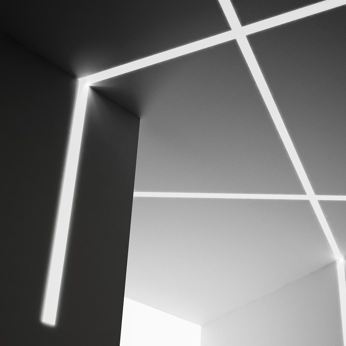 Profilo Luminoso A Muro A Soffitto Led A Lampada Fluorescente
