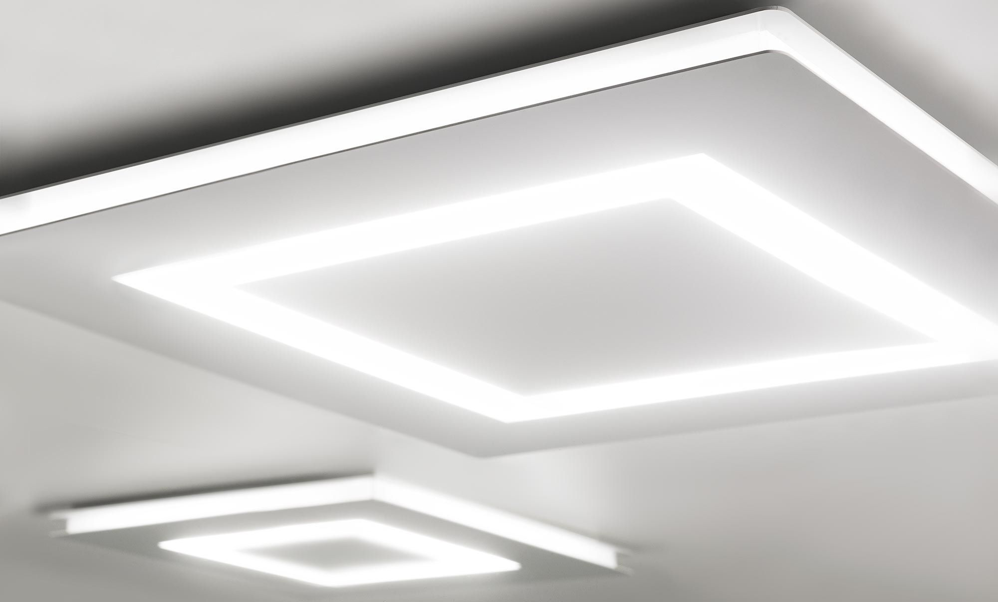 Plafoniere Quadrata : Plafoniera moderna quadrata in metallo policarbonato