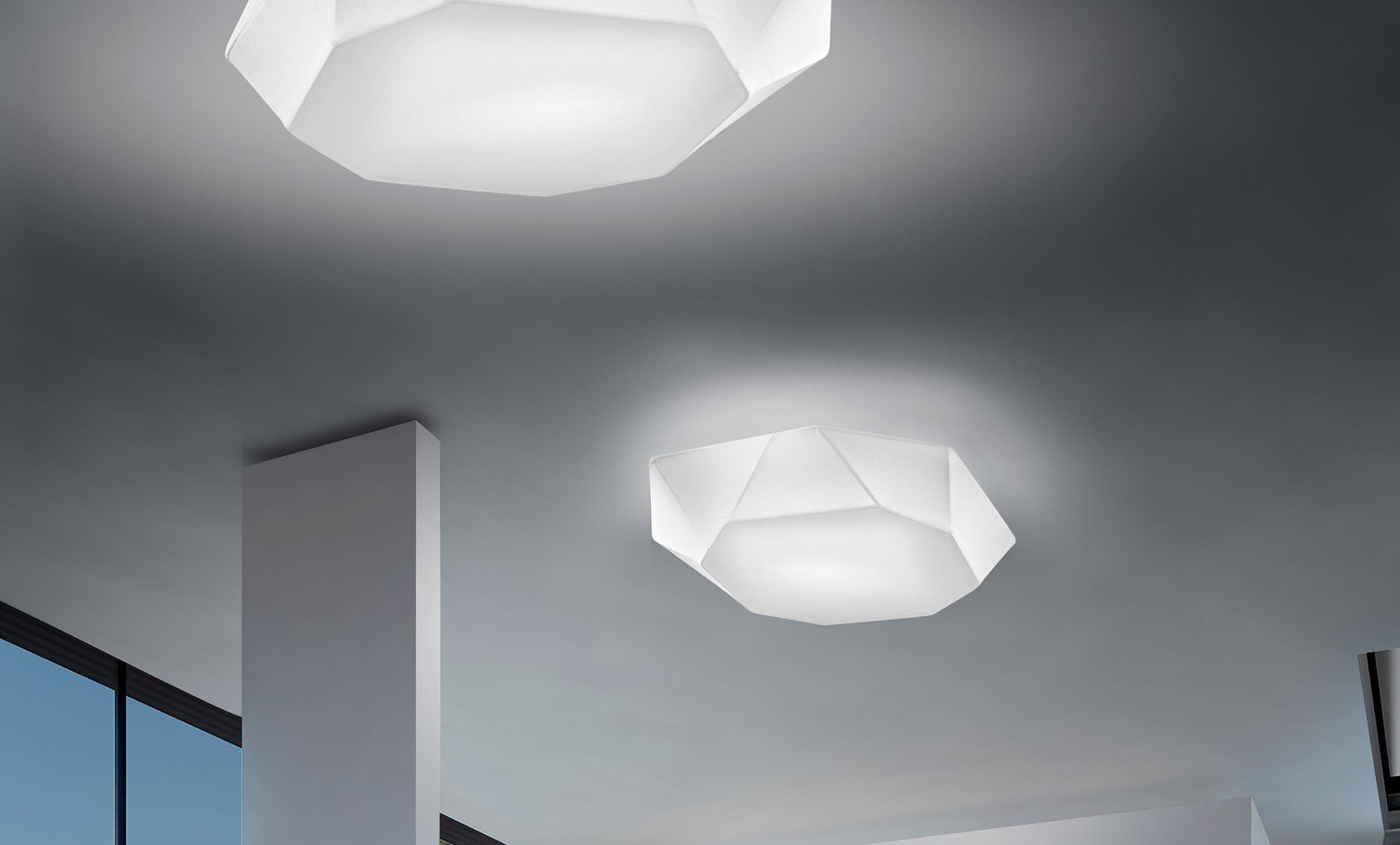 Plafoniere Moderne In Tessuto : Plafoniera moderna in tessuto led da interno viki panzeri