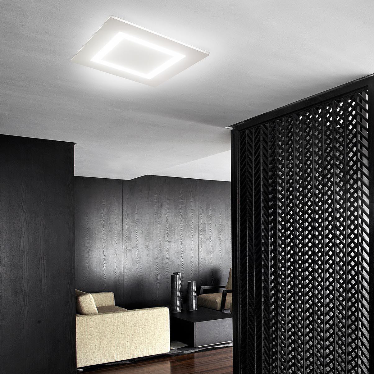 Plafoniera moderna / quadrata / in metallo / LED - FLAT - PANZERI