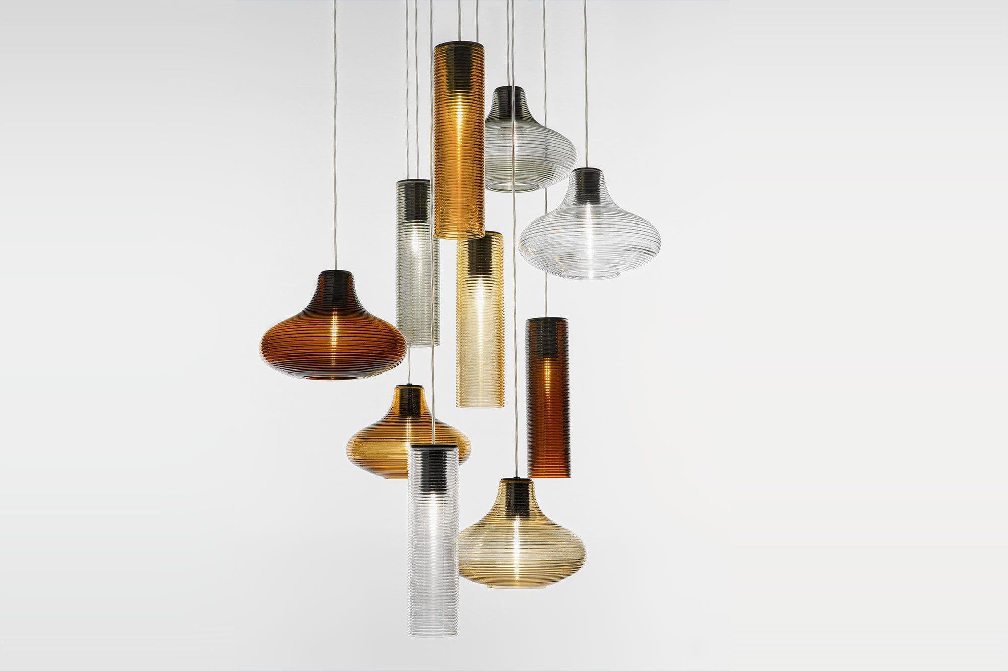 Lampade In Vetro Soffiato : Lampada a sospensione moderna in acciaio in vetro soffiato