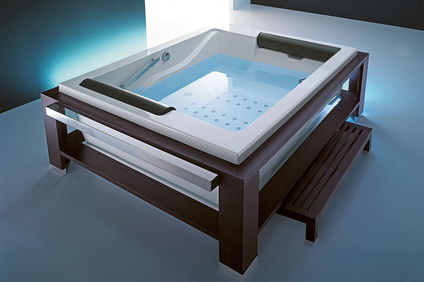 Vasca Da Bagno Doppia Misure : Vasca da bagno su piedi in legno in acrilico doppia bis