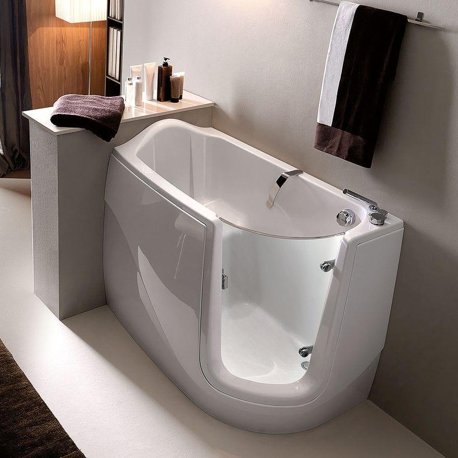 Vasca da bagno da incasso / d\'angolo / in acrilico / per disabili ...