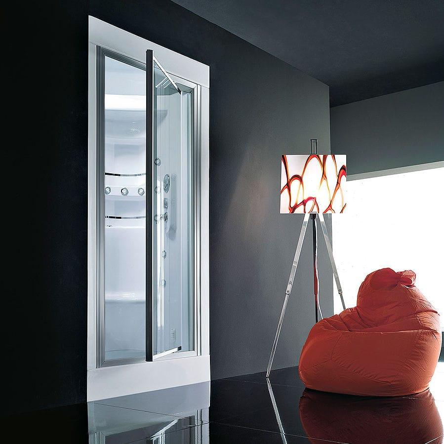 Box doccia multifunzione / in vetro / rettangolare / con porta ...