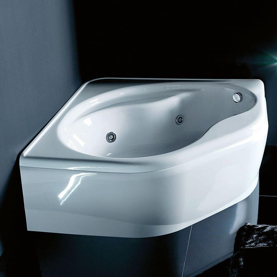 Vasca da bagno da incasso / d\'angolo / in acrilico / idromassaggio ...
