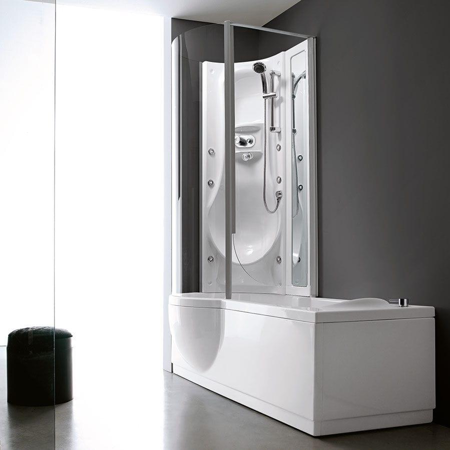 Vasca da bagno doccia da incasso / altre forme / in acrilico ...