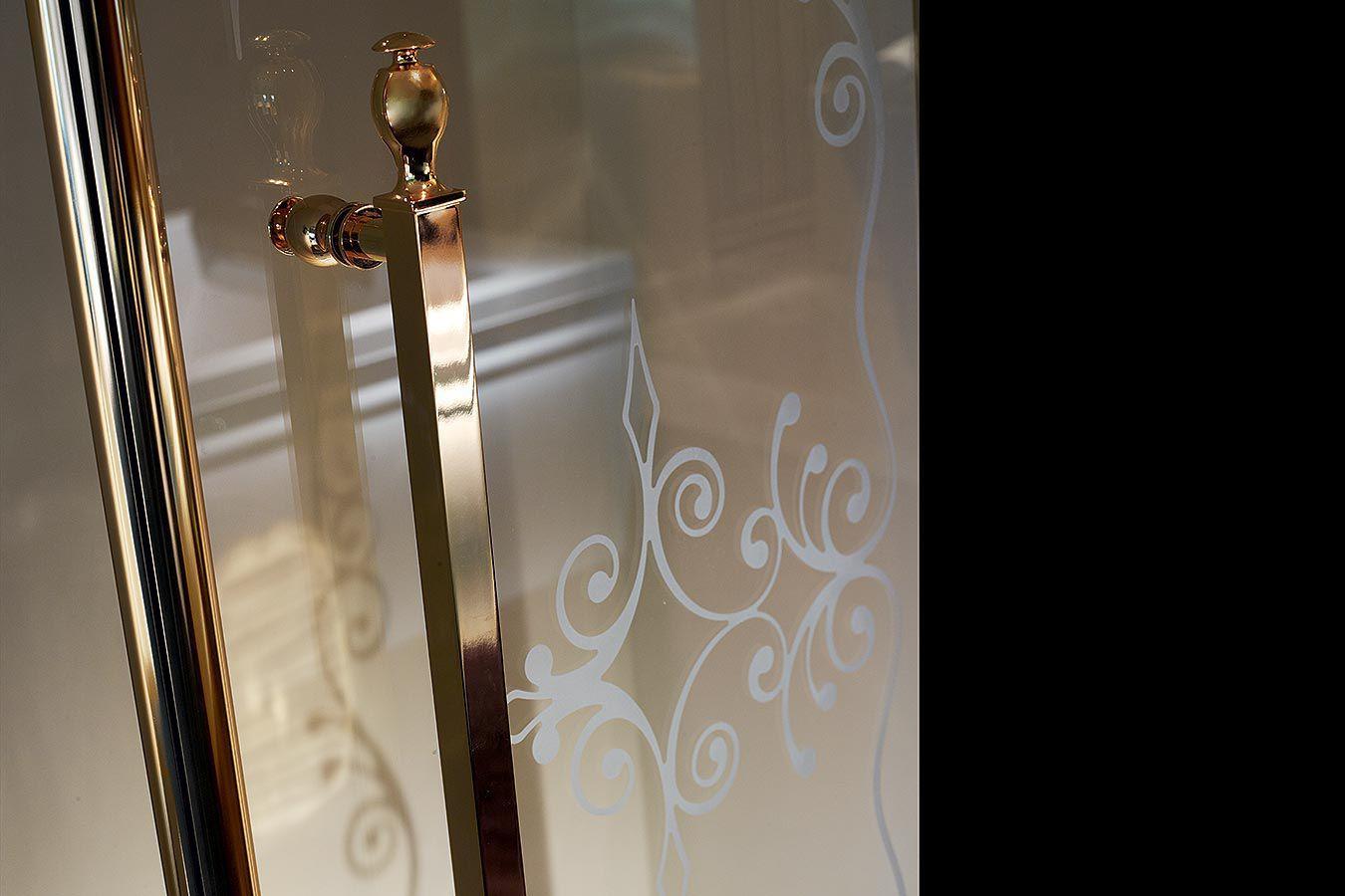 Box doccia in vetro / d'angolo / con porta scorrevole - BLANQUE ...