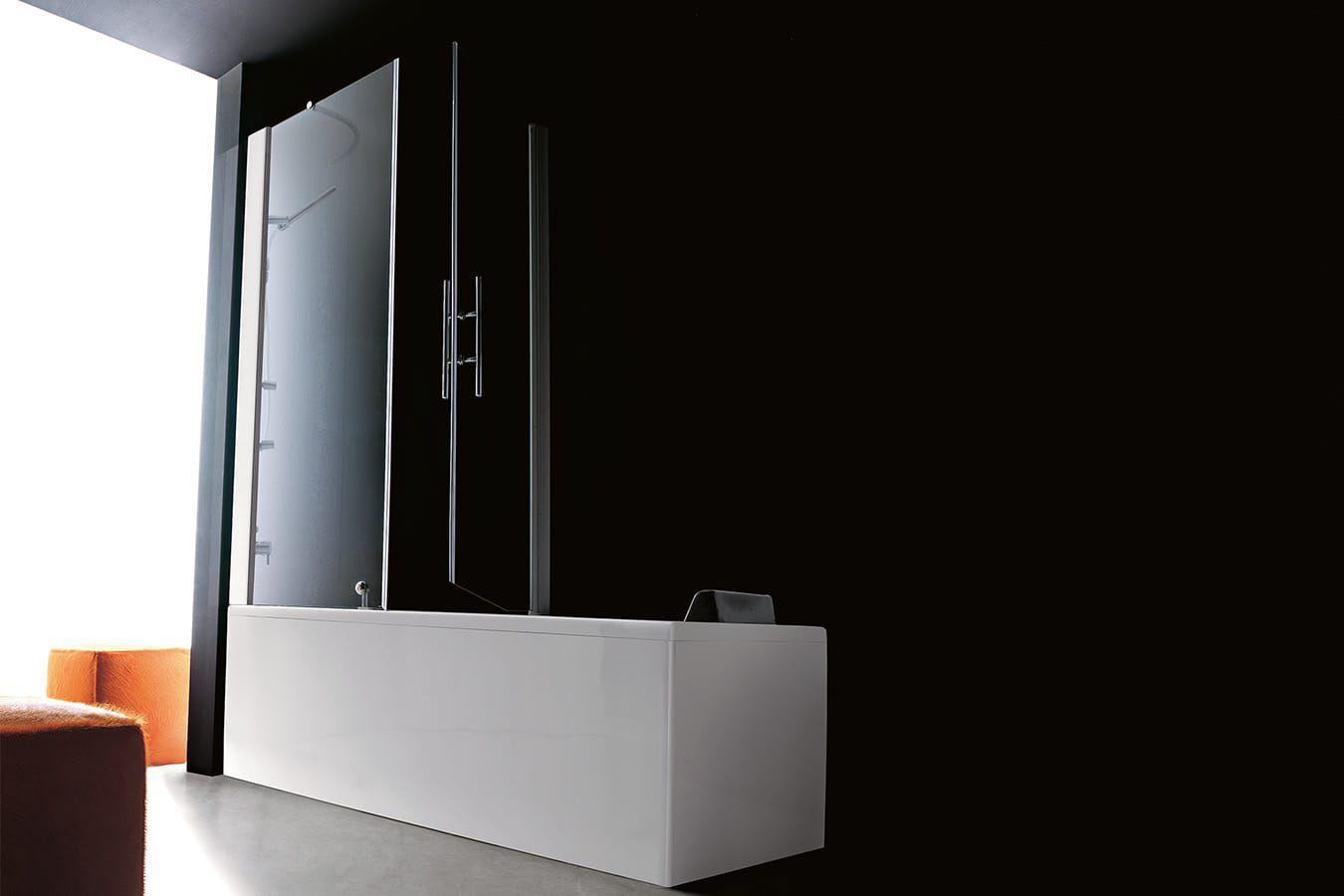 Vasca Da Bagno Verticale : Vasca da bagno doccia da incasso rettangolare in acrilico