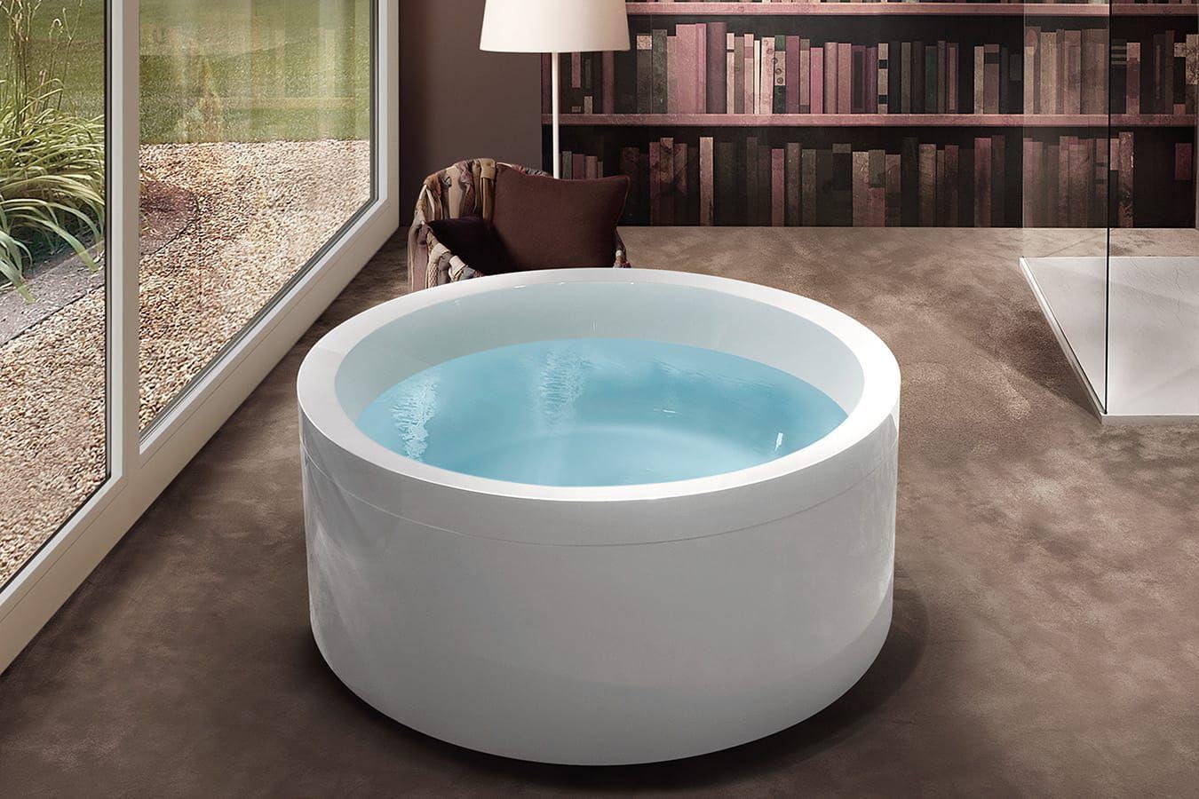 Vasca Da Bagno Rotonda Prezzi : Vasca da bagno da appoggio tonda in acrilico idromassaggio