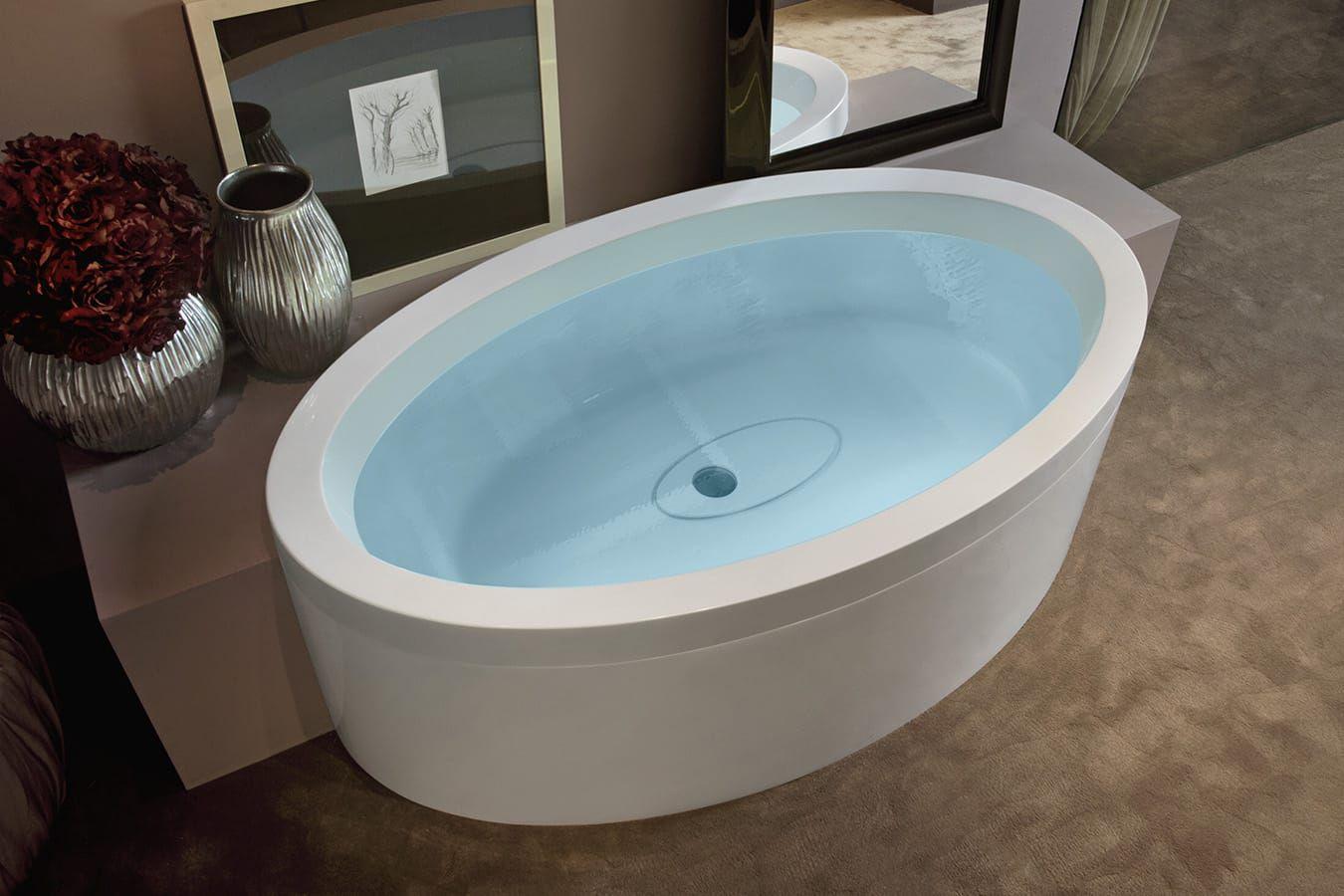 Vasca Da Bagno A Scomparsa : Vasca da bagno ovale in acrilico idromassaggio di marc