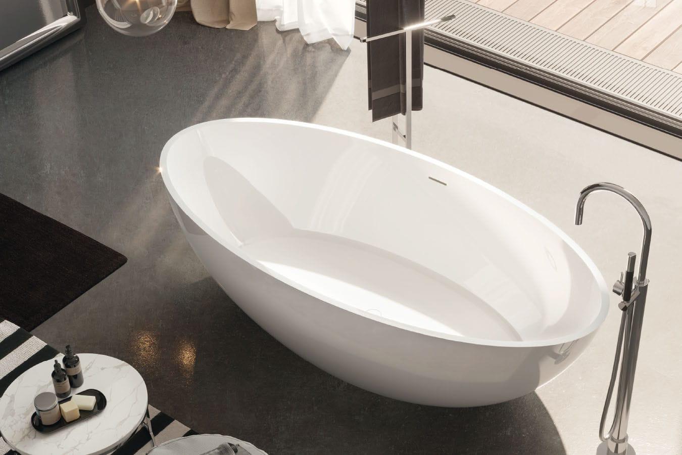 Gruppo Vasca Da Bagno Prezzi : Vasca da bagno da appoggio ovale in acrilico carezza gruppo