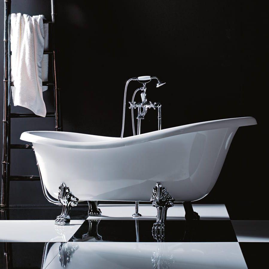 Vasche Da Bagno D Epoca : Vasca da bagno su piedi ovale in acrilico epoca gruppo treesse
