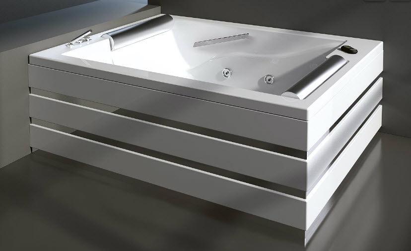 Vasche Da Bagno Doppie Prezzi : Vasca da bagno da appoggio in acciaio doppia idromassaggio