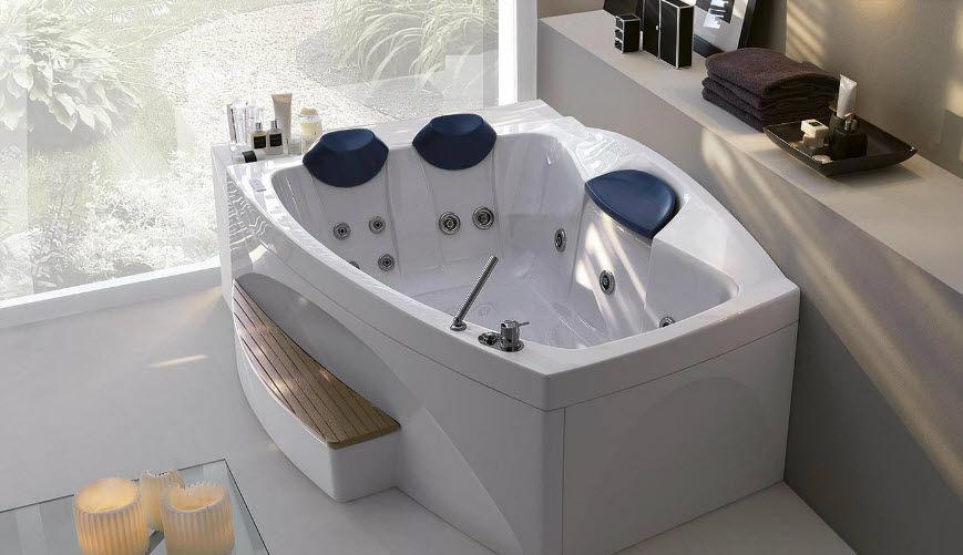 Vasca Da Bagno Doppia Prezzi : Vasca da bagno d angolo in acrilico doppia idromassaggio