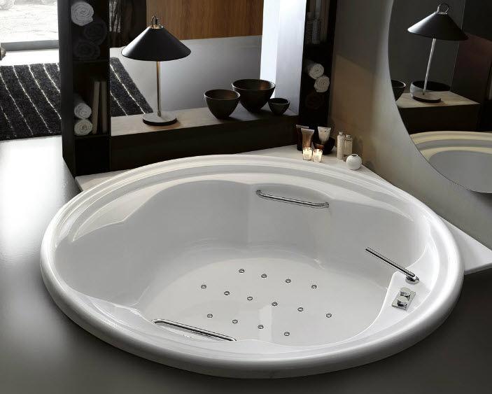 Vasca Da Bagno Rotonda Prezzi : Vasca da bagno tonda in acrilico doppia idromassaggio ninfa