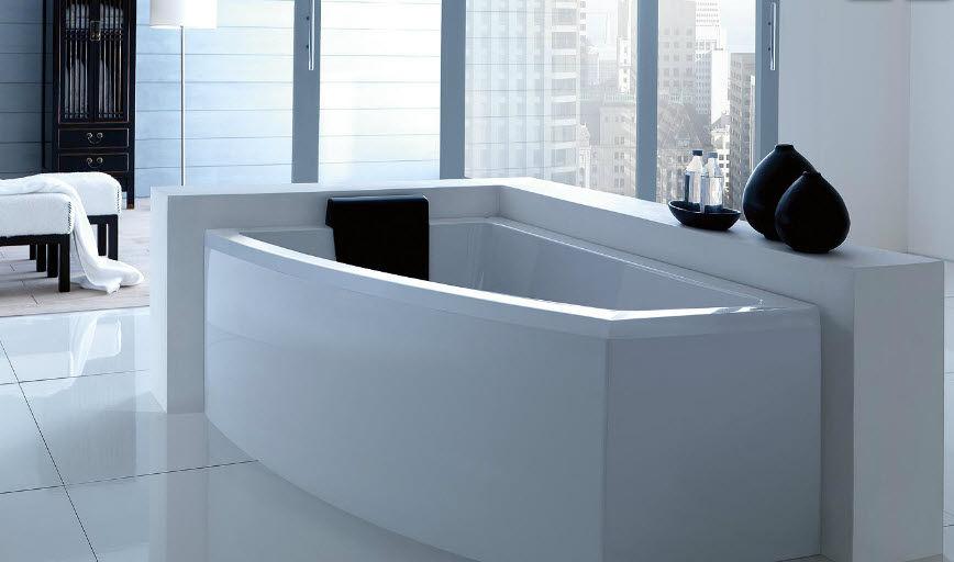 Vasca da bagno d\'angolo / in acrilico / idromassaggio - ASYX by ...