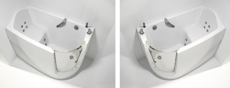 Vasca da bagno da incasso / d'angolo / in acrilico / per disabili ...