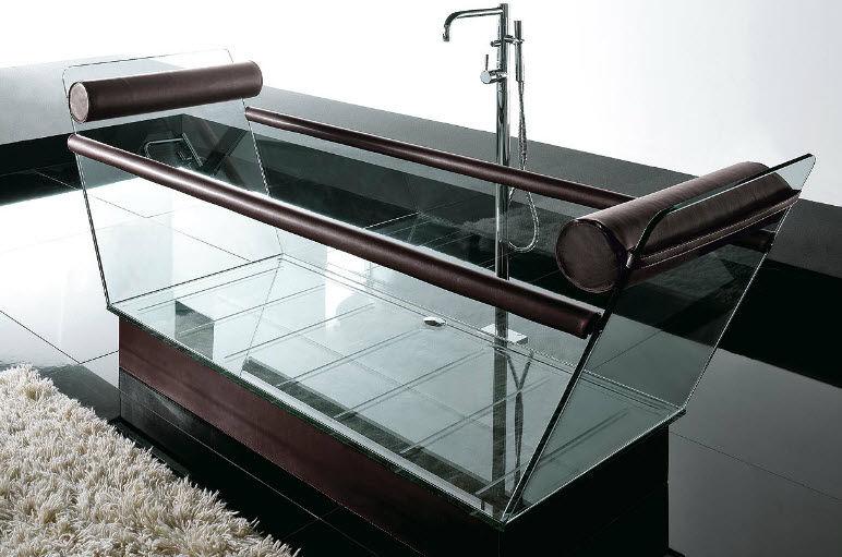Vasca da bagno da appoggio / in vetro / doppia   milo by ...