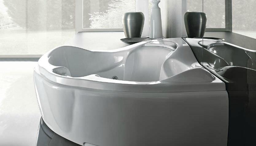 Vasche Da Bagno Angolari Treesse : Vasca da bagno da incasso d angolo in acrilico doppia