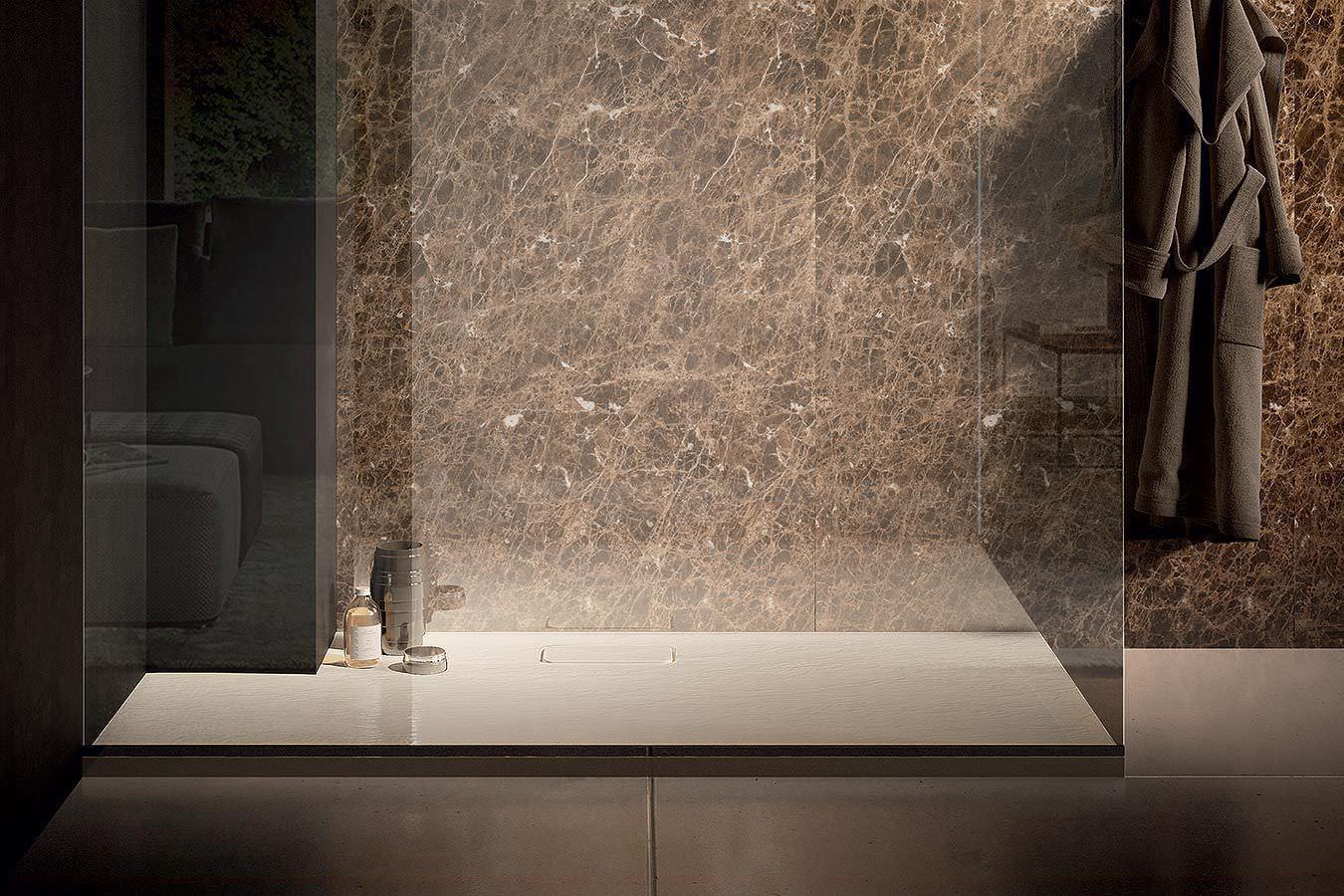 Célèbre Piatto doccia rettangolare / in pietra / di Marc Sadler - FIT by  PI55