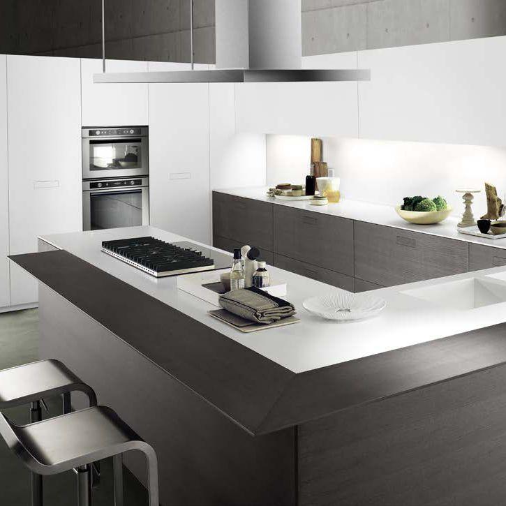 Cucina moderna / in quercia / a U - TOUCH by P.G. Cazzaniga - COMPOSIT