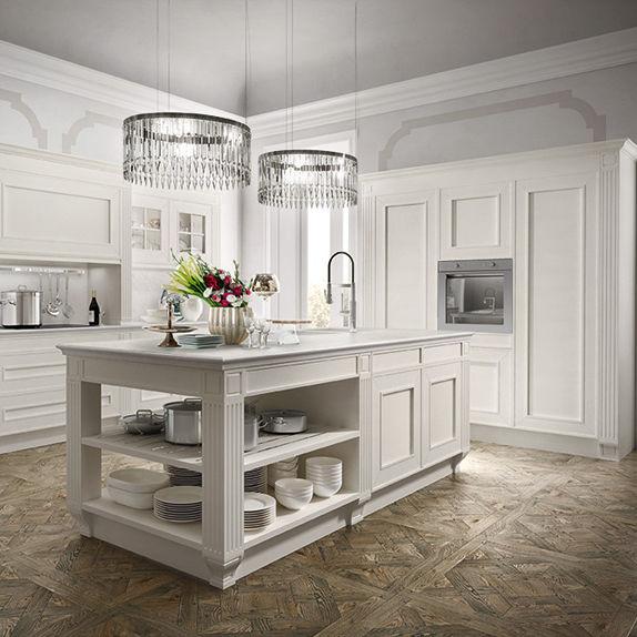 Cucina classica / in legno / con isola / senza maniglie - MELOGRANO ...