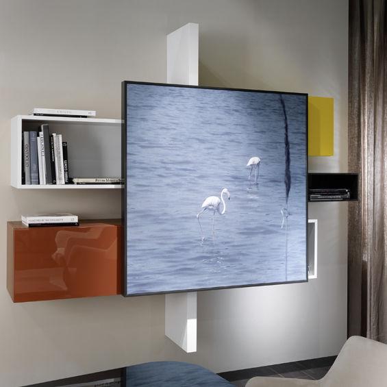 Parete attrezzata per soggiorno moderna / in legno laccato   my ...