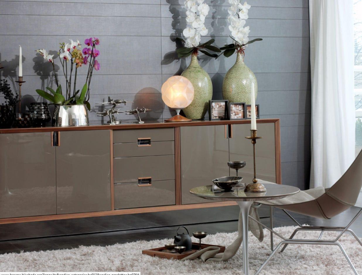 Credenza Moderna Beige : Credenza moderna in legno laccato bianca beige sestante