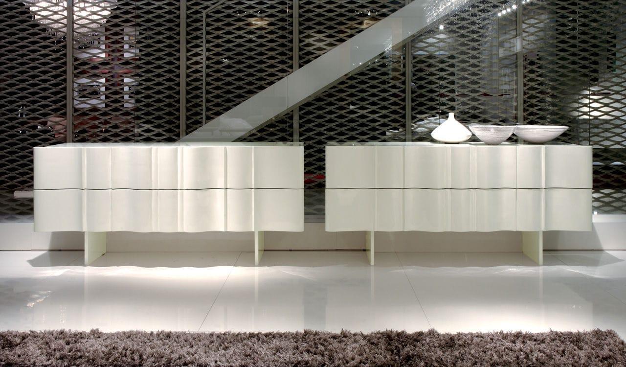Credenza Moderna Bianca Legno : Credenza moderna in legno laccato bianca grigia boboli