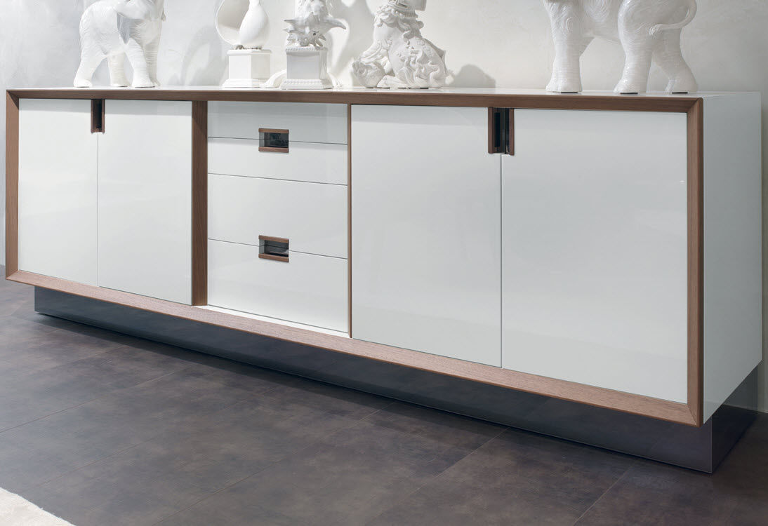 Credenza Moderna Bianca Legno : Madia bianca in legno madie online su outlet del mobile