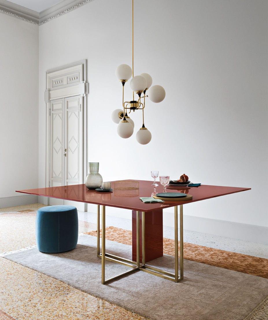 Tavolo da pranzo moderno / in ottone / rotondo / quadrato - PLINTO ...