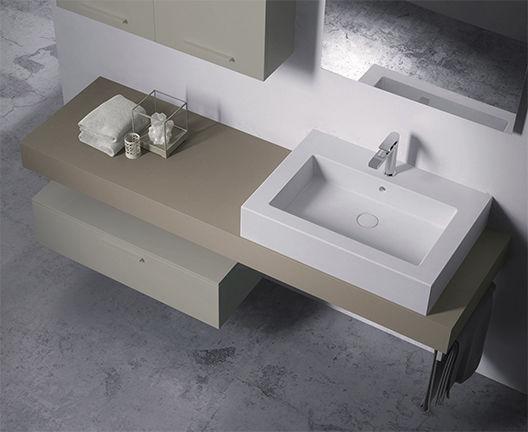 Vasche Da Bagno Globo Prezzi : Lavabo da appoggio rettangolare in ceramica moderno in a