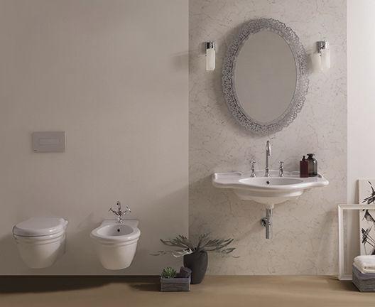 Vasca Da Bagno Globo Paestum : Lavabo sospeso in ceramica classico pa056 ceramica globo