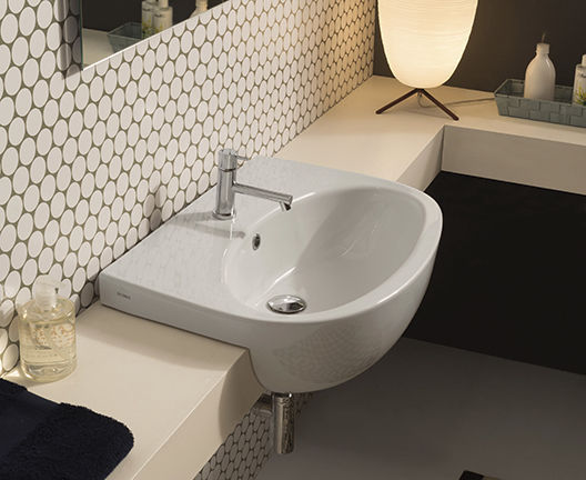 Vasche Da Bagno Globo Prezzi : Lavabo da semincasso ovale in ceramica moderno gr