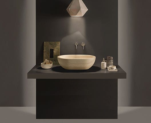 Vasche Da Bagno Globo Prezzi : Lavabo da appoggio ovale in pietra moderno sc