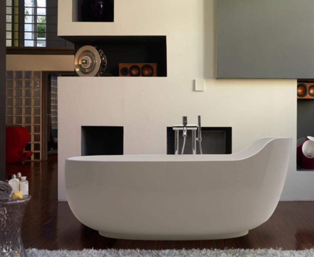 Vasche Da Bagno Globo Prezzi : Vasca da bagno ad isola ovale in pietraluce vaolbi