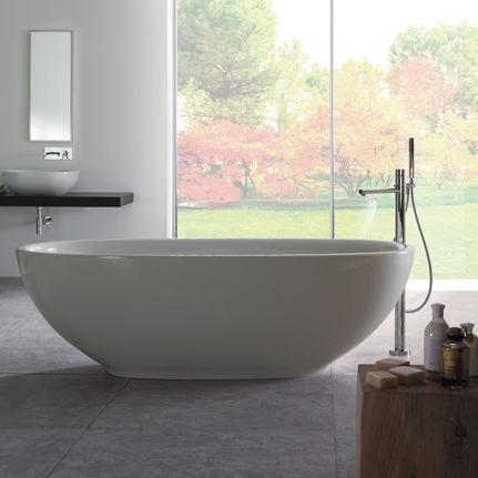 Vasca da bagno da appoggio / ovale / in Pietraluce® - VABOCA ...