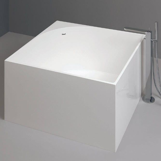 vasca da bagno da appoggio quadrata in acrilico