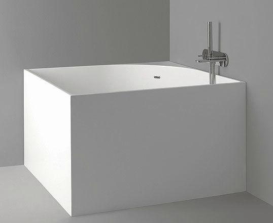 vasca da bagno da appoggio quadrata in acrilico nic design