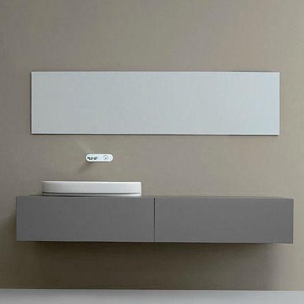 specchio a muro moderno rettangolare da bagno shadow